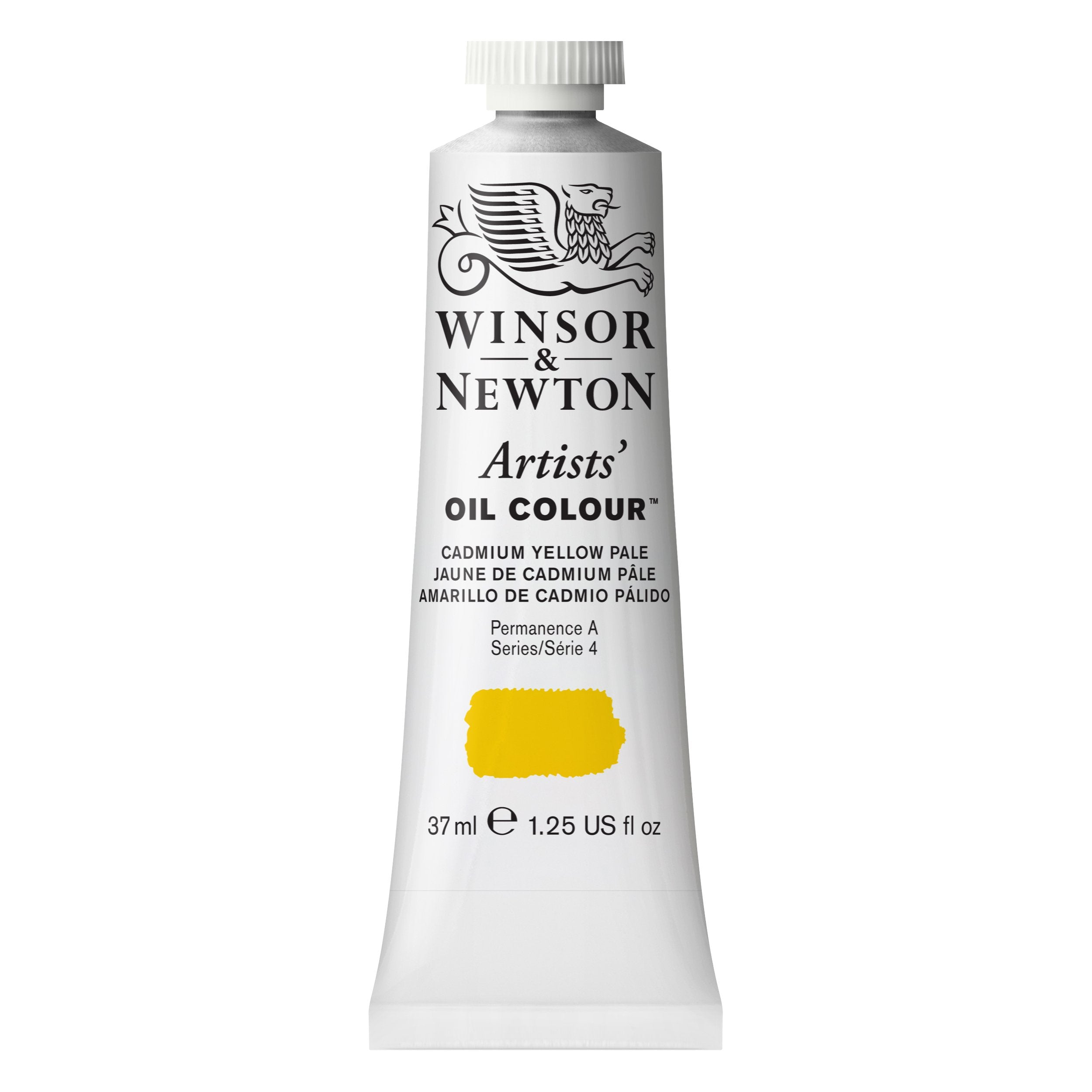 Winsor & Newton Artists Oil Color, 37ml, Cadmium Yellow Pale