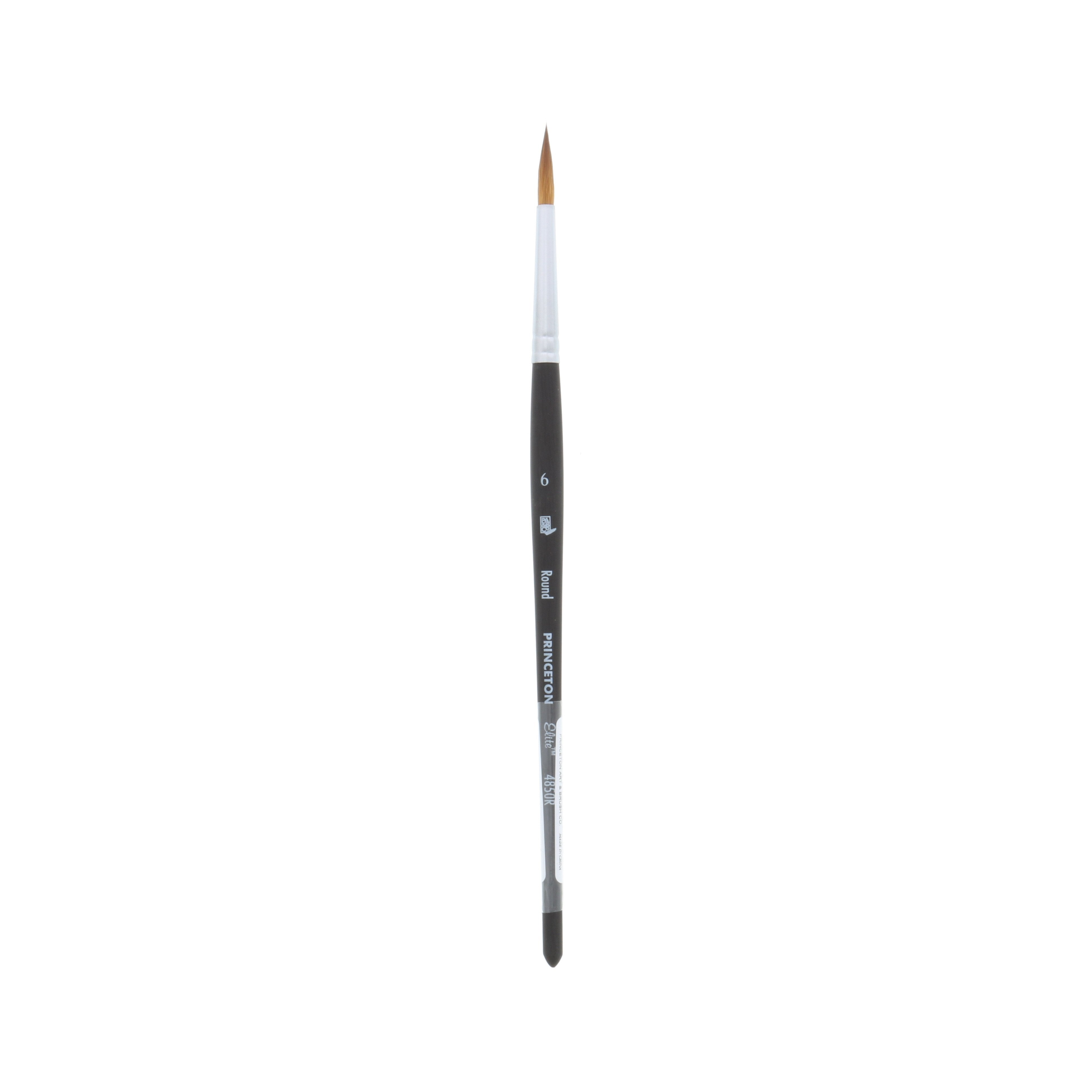 Princeton Brush Elite Synthetic Kolinsky Sable Watercolor Brush, Round, 6