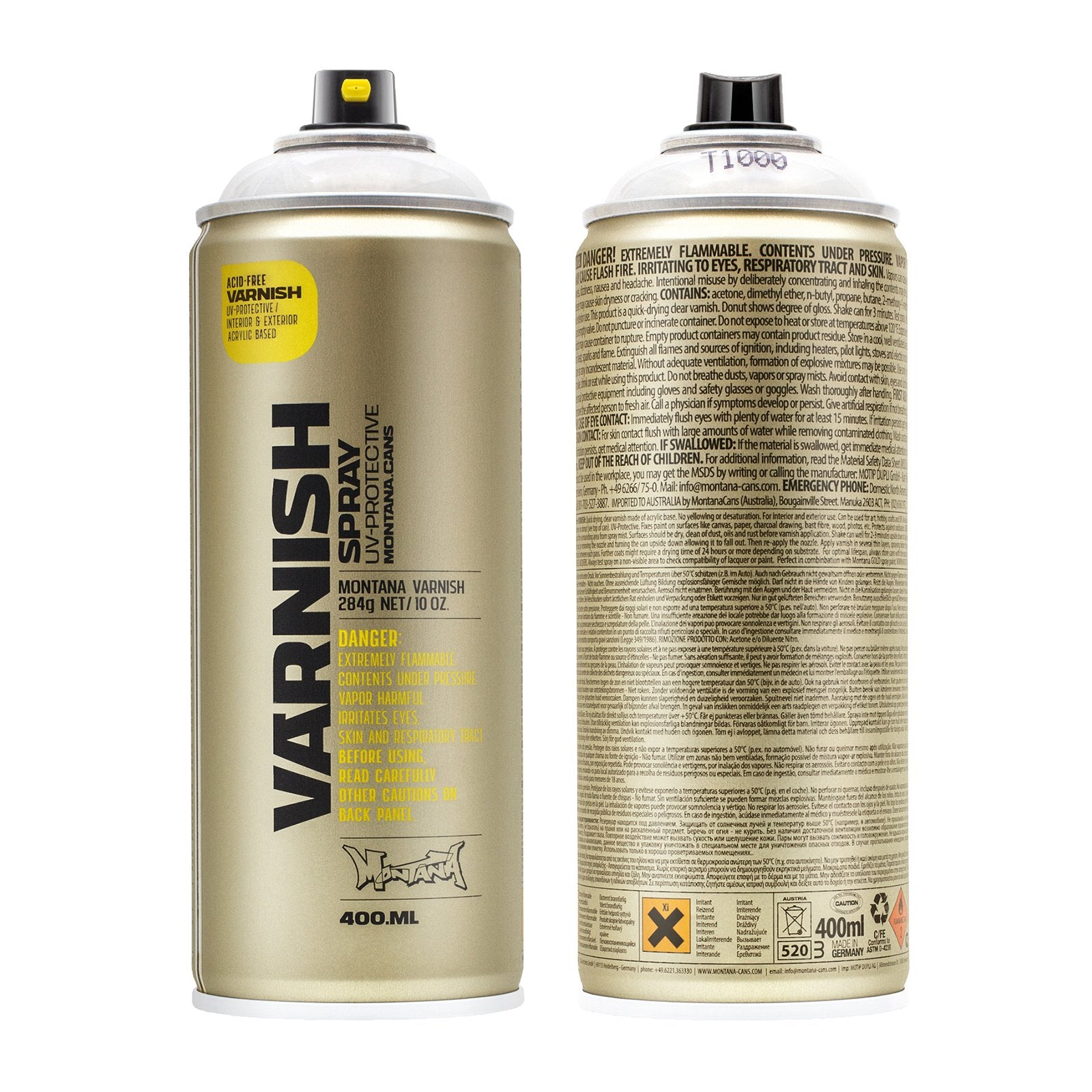 Montana Cans TECH VARNISH 400ml, Gloss