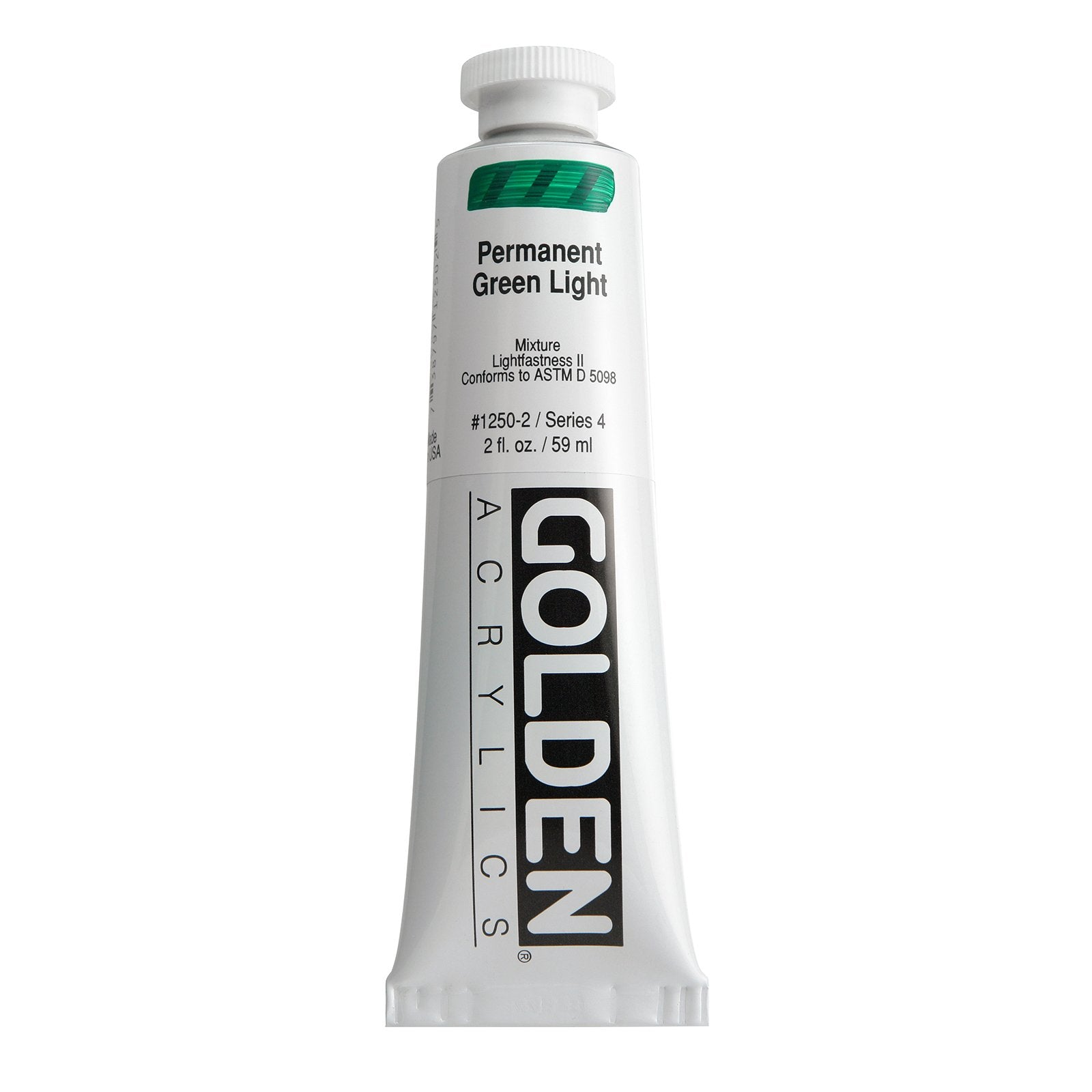 Golden® Heavy Body Acrylic, 2 oz., Permanent Green Light