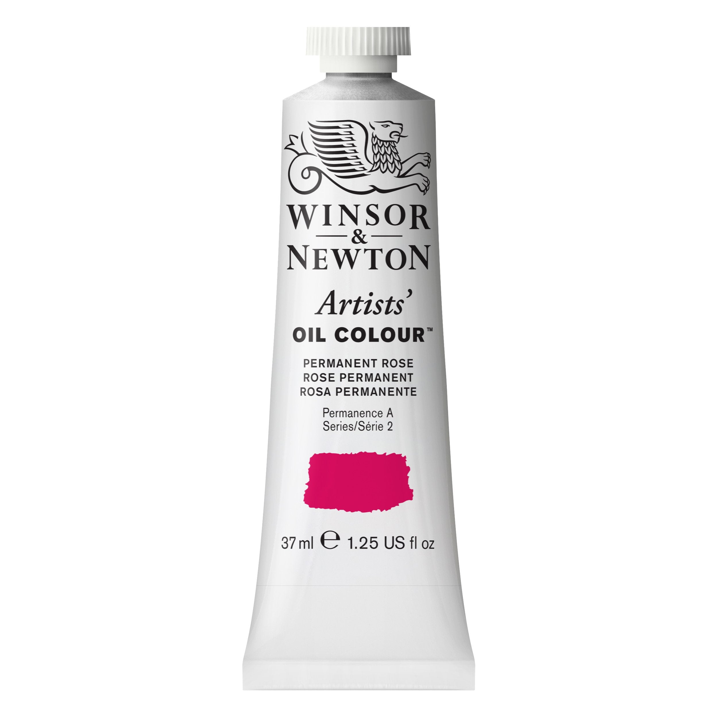 Winsor & Newton Artists Oil Color, 37ml, Permanent Rose