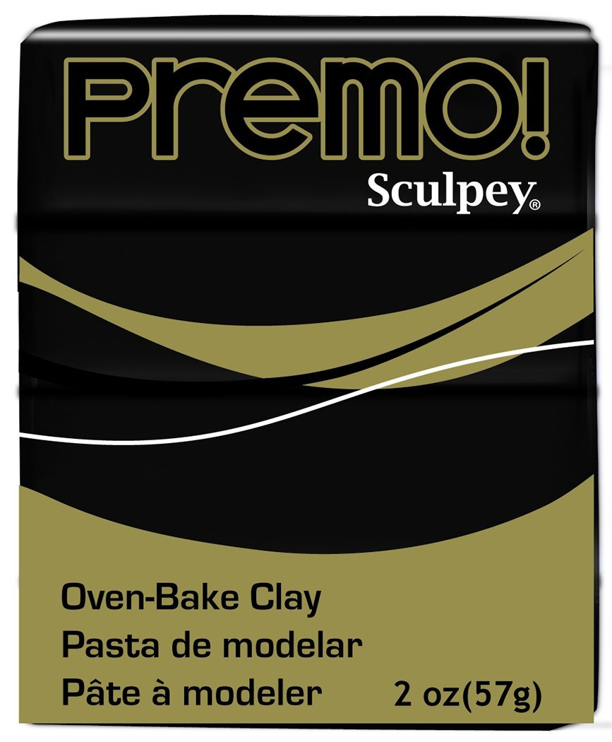 Premo! Sculpey Modeling Clay, 2 oz., Black