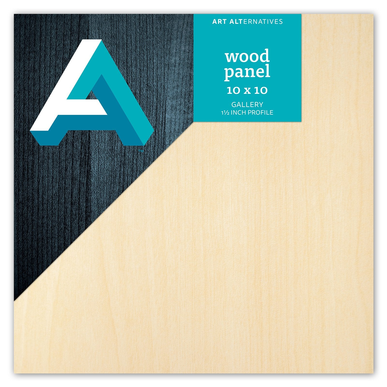 "Art Alternatives Classic Wood Panel, Gallery, 1.5"" Profile, 10"" x 10"""