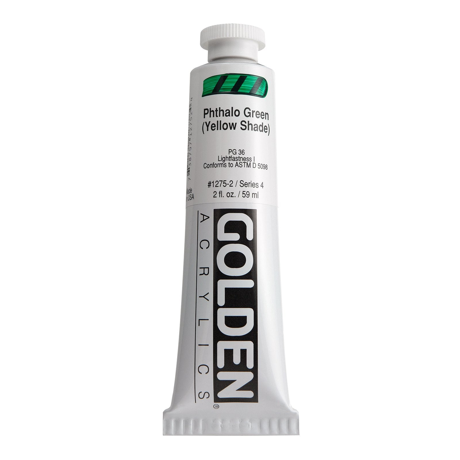 Golden® Heavy Body Acrylic, 2 oz., Phthalo Green/ Yellow Shade