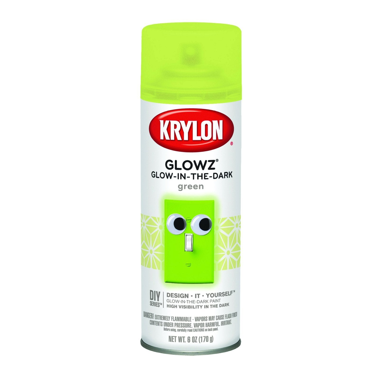 Krylon Glowz Spray Paint, 6 oz., Green