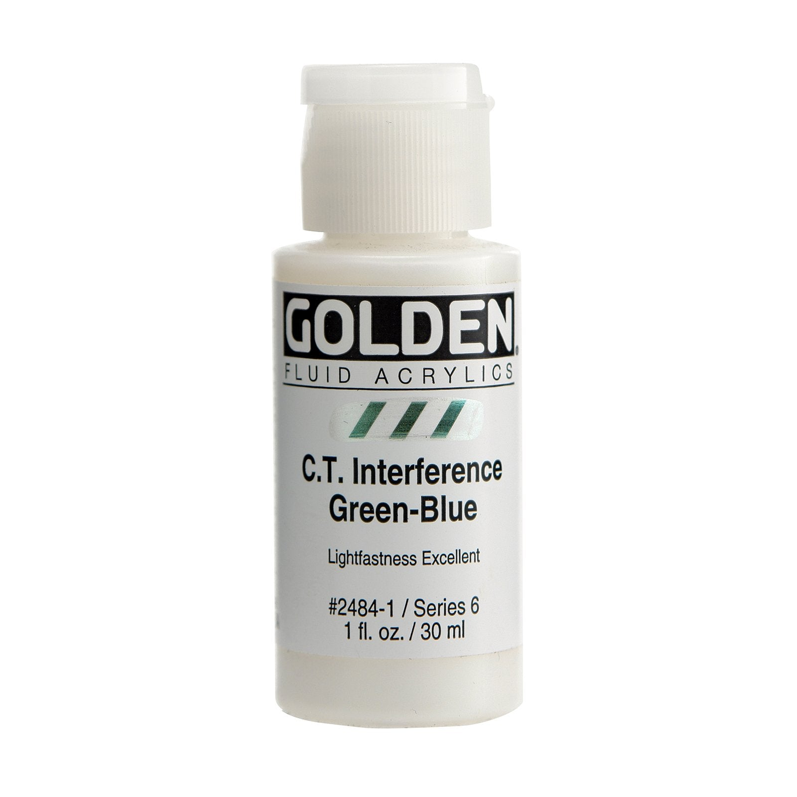 Golden® Fluid Interference Acrylic, 1 oz., Interference Green Blue