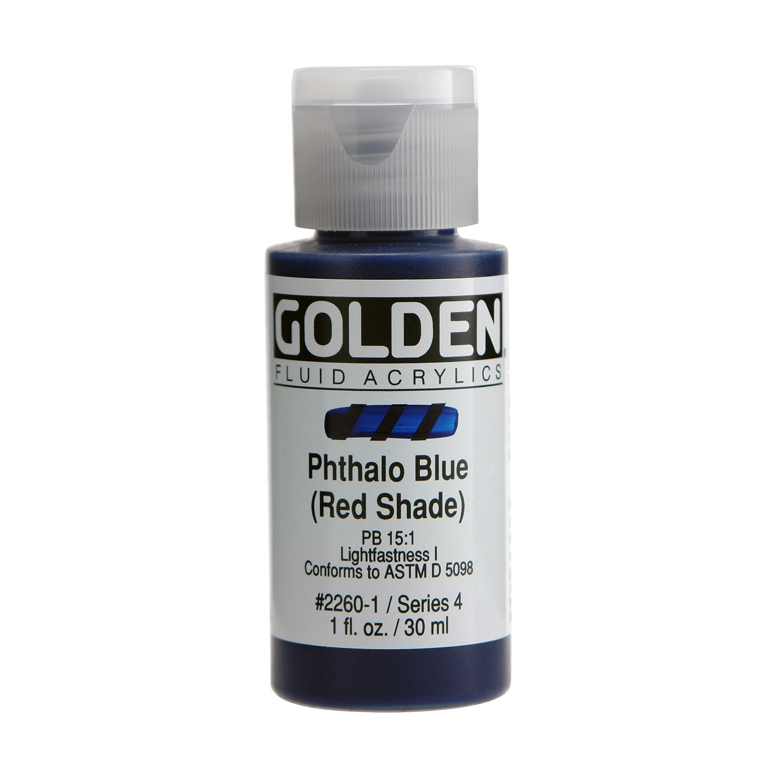 Golden® Fluid Acrylic, 1 oz., Phthalo Blue/ Red Shade