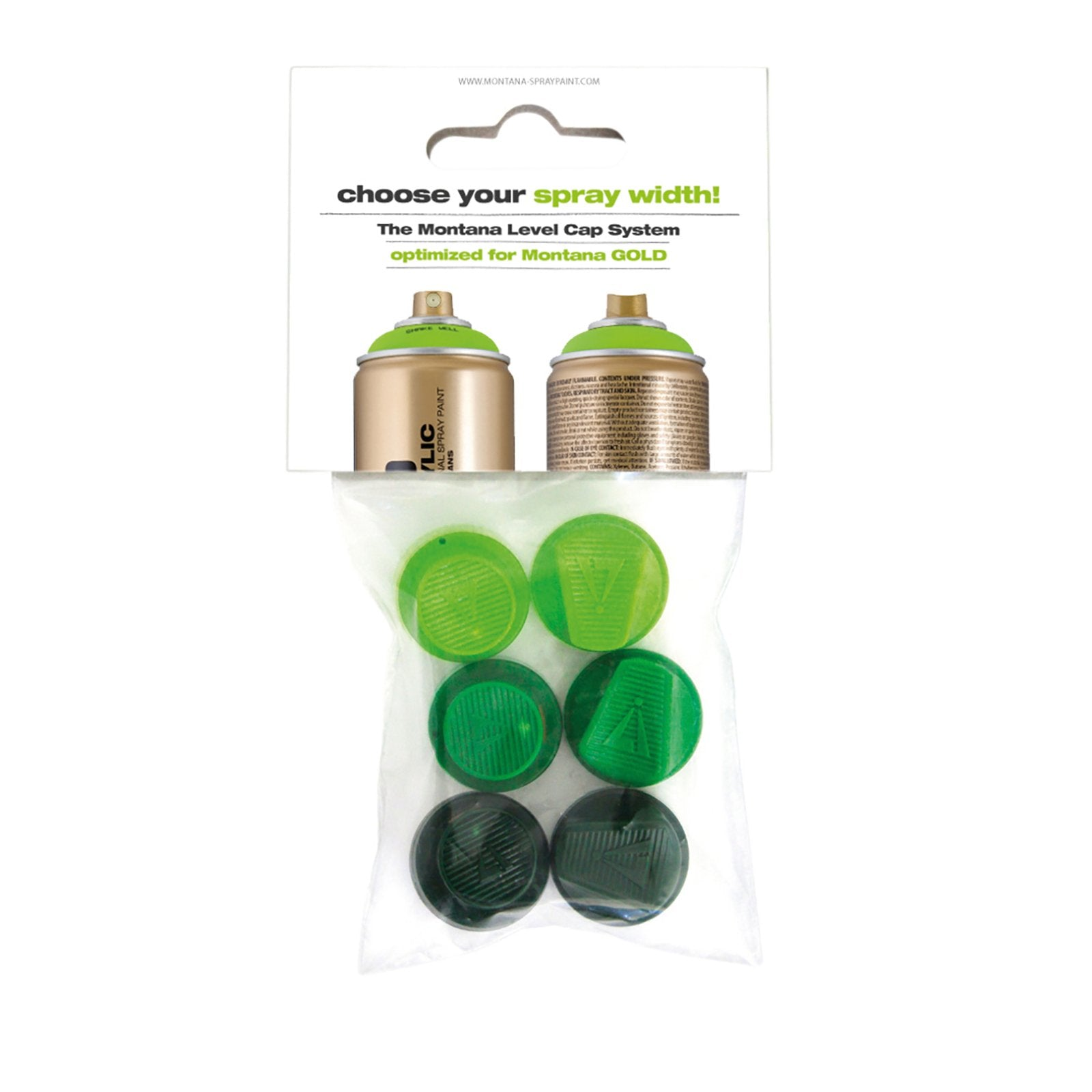Montana Cans GOLD 6 Green Capset