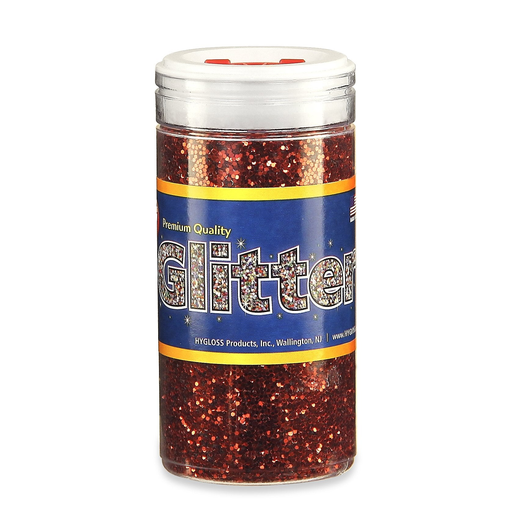 Hygloss Glitter, 4 oz., Red
