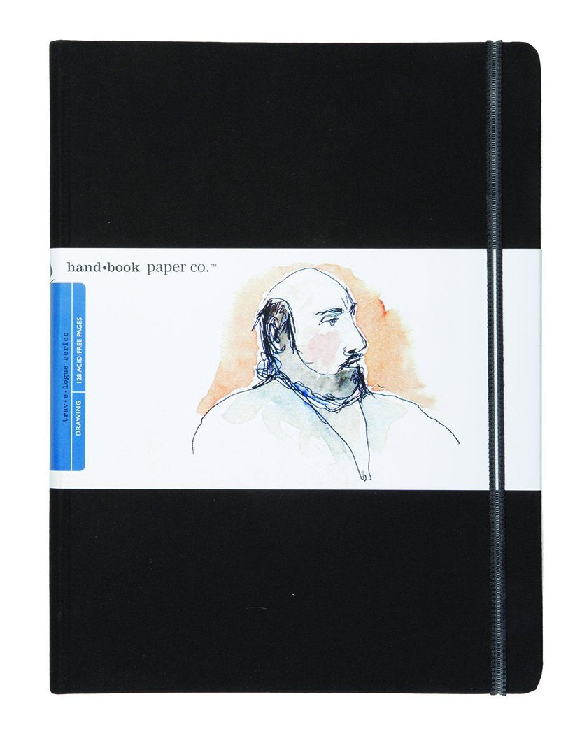 "Global Art Handbook Travelogue Artist Journal, Extra-Large Portrait, 8.25"" x 10.5"", Black"