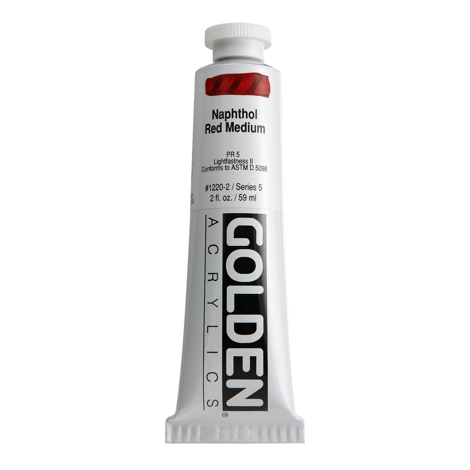Golden® Heavy Body Acrylic, 2 oz., Naphthol Red Medium