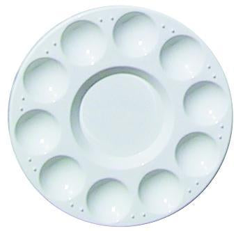 Art Alternatives  Water/Paint Tray, White Plastic 10 Well Round