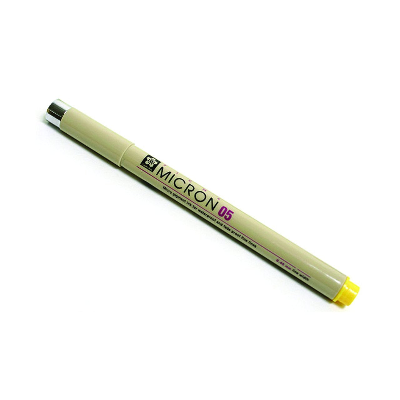 Sakura Pigma Micron Pen, .45mm, Yellow, 05
