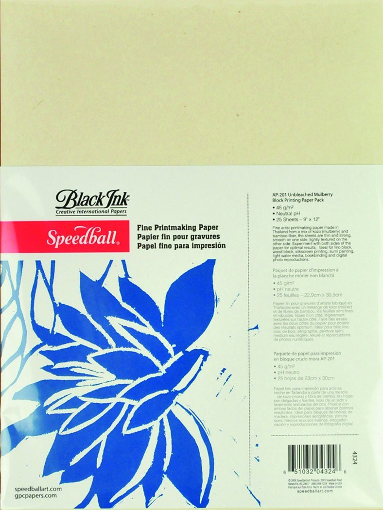 Speedball Unbleached Mulberry Block Printing Paper