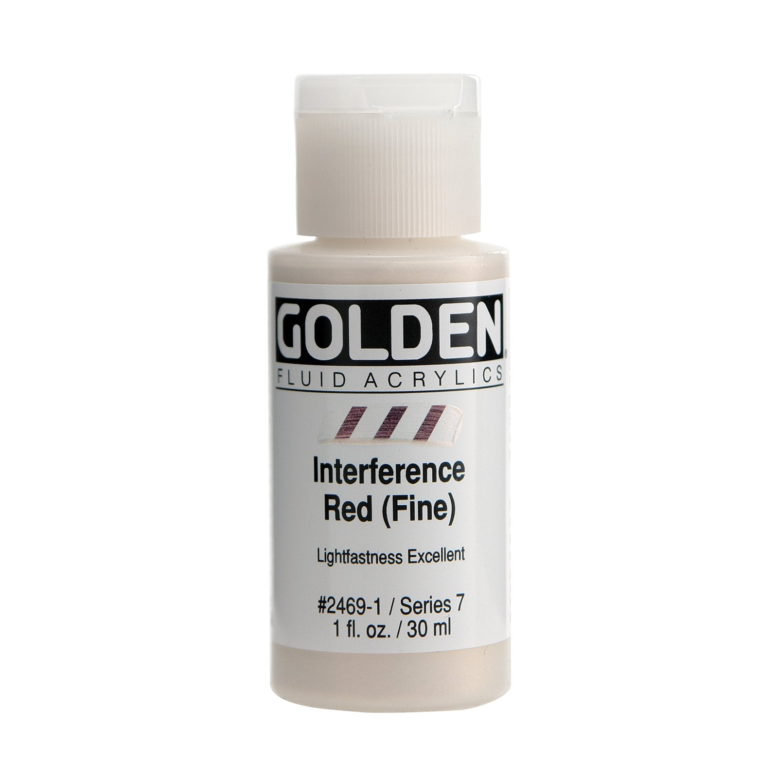 Golden® Fluid Interference Acrylic, 1 oz., Interference Red