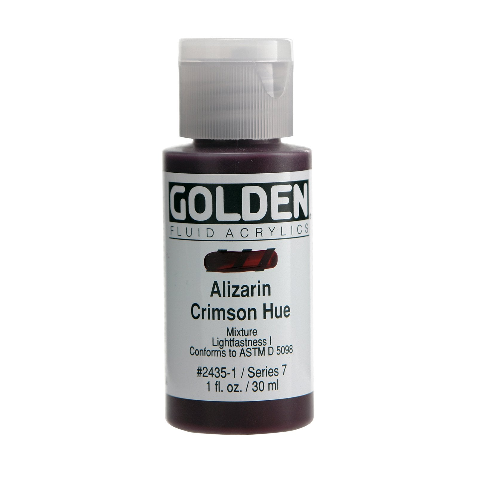 Golden® Fluid Acrylic, 1 oz., Alizarin Crimson Hue