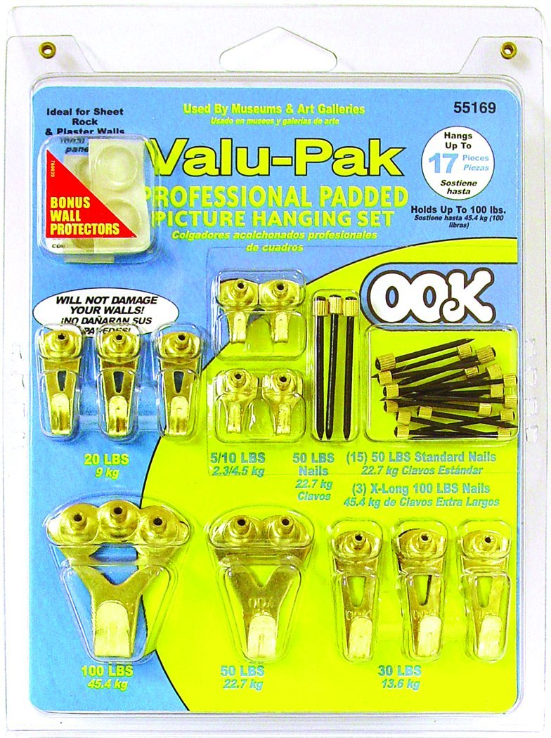 Ook Valu-Pak Professional Padded Picture Hanging Set