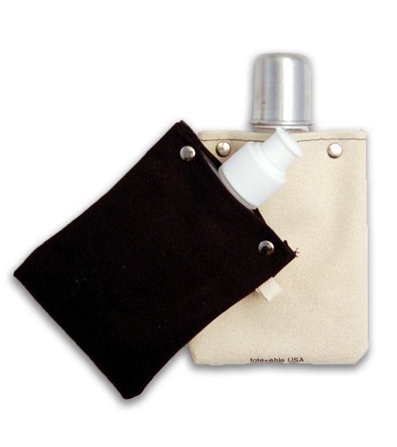 Canvas Canteen - Black - Flask Both