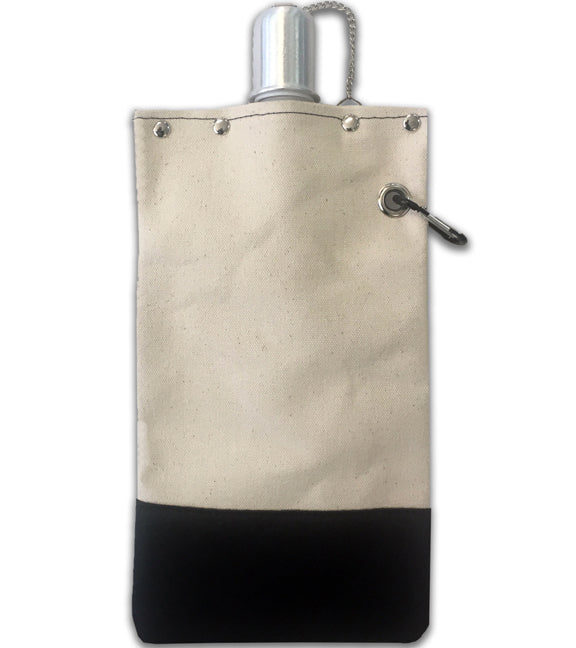 Canvas Canteen – Black – 25 oz. Front