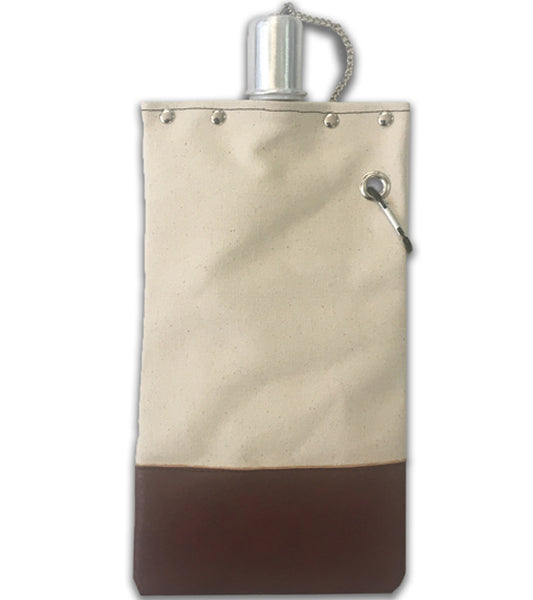 Canvas Canteen – Brown – 25 oz. Front