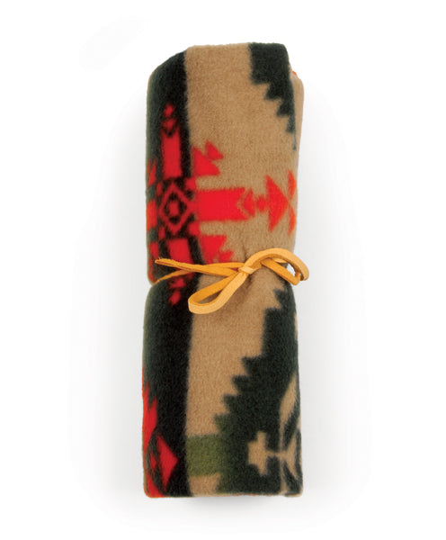 Fleece Native American Trading Blanket - Brown