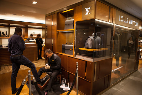 Shoe Shine Service Ltd for Louis Vuitton in Harrods
