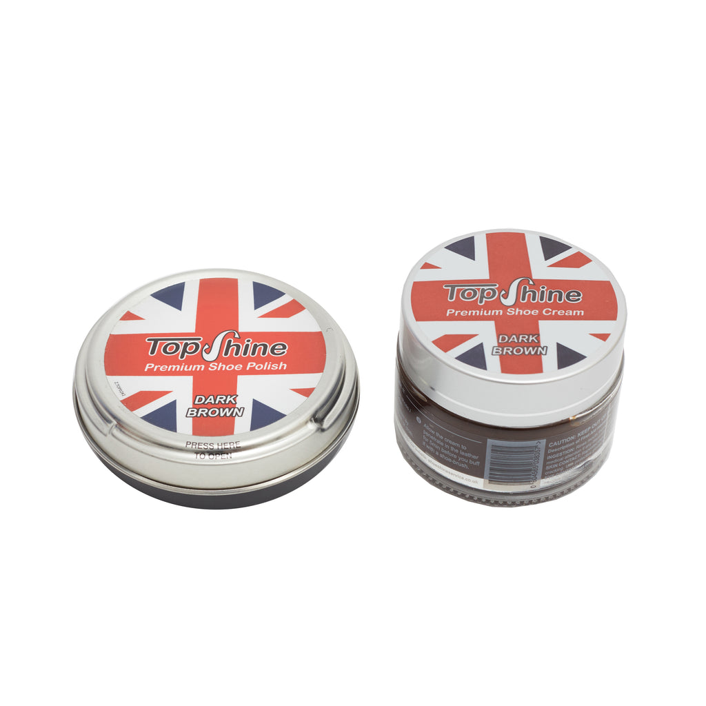 Dark brown shoe cream boot polish