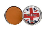 Light brown shoe polish, light tan shoe polish, tan beeswax, waterproof shoe polish