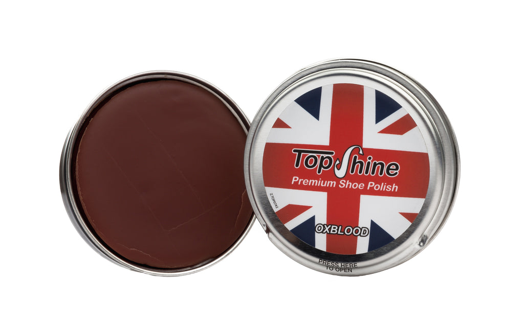 Oxblood shoe polish, burgundy shoe polish, oxblood beeswax, burgundy beeswax,
