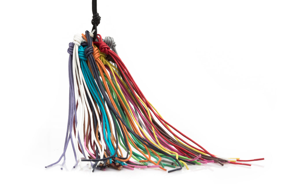 full range of colourful waxed shoe laces