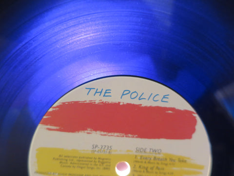 The Police Synchronicity LP with purple hue