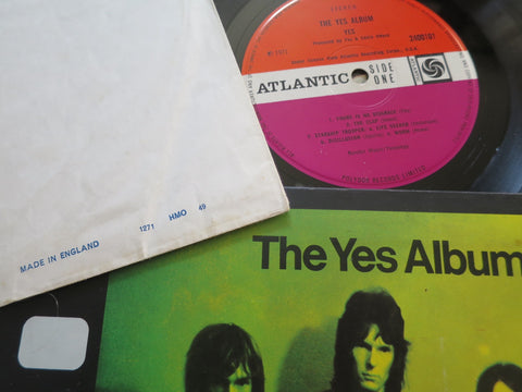 Yes The Yes Album plum label UK LP with dated inner sleeve.