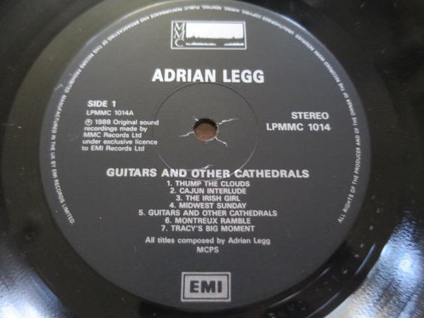 Adrian Legg - Guitars And Other Cathedrals - LP UK Vinyl Album Record Label Closeup