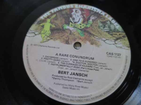 Bert Jansch - A Rare Conundrum - LP UK Vinyl Album Record Label Closeup
