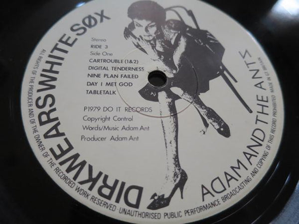 Adam And The Ants - Dirk Wears White Sox - LP UK Vinyl Album Record Label Closeup