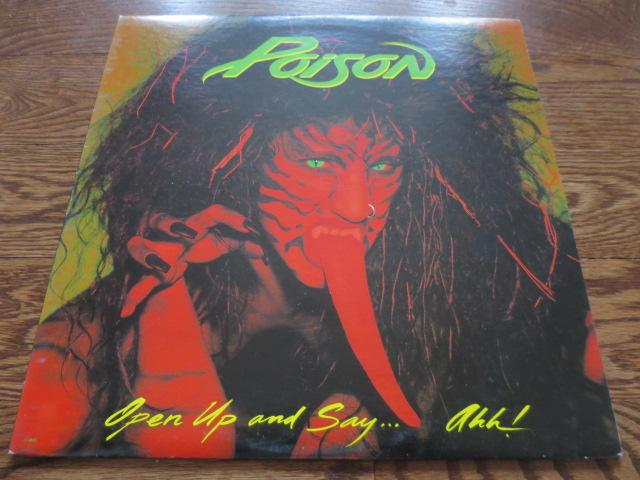 Poison - Open Up and Say…Ahh! - LP UK Vinyl Album Record Cover