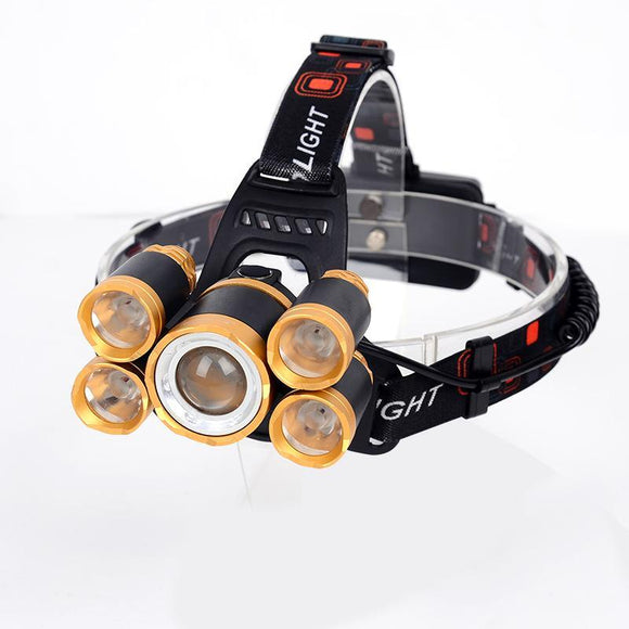 Water Resistant Powerful Camping Head Lamp_0