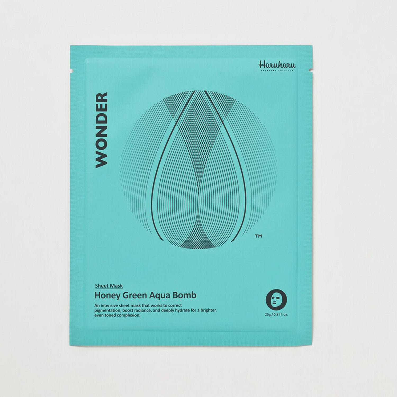 Honey Green Aqua Bomb Mask, 0.9 oz. (25 g)/5 sheets
