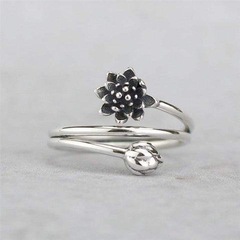 "Ring ""Beauty Lotus Flower"" in 925"