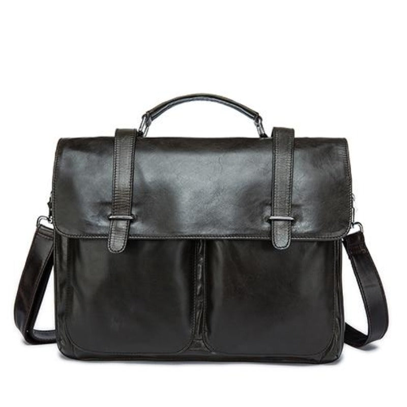 men's business briefcase  genuine leather  briefcase