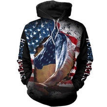 Load image into Gallery viewer, Hoodie Love Horse American Flag 3D Printed