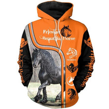Load image into Gallery viewer, Hoodies Friesian Horse 3D Printed