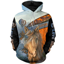 Load image into Gallery viewer, Hoodie Love Horse 3D Printed