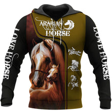 Load image into Gallery viewer, Arabian Horse 3D All Over Printed Hoodie