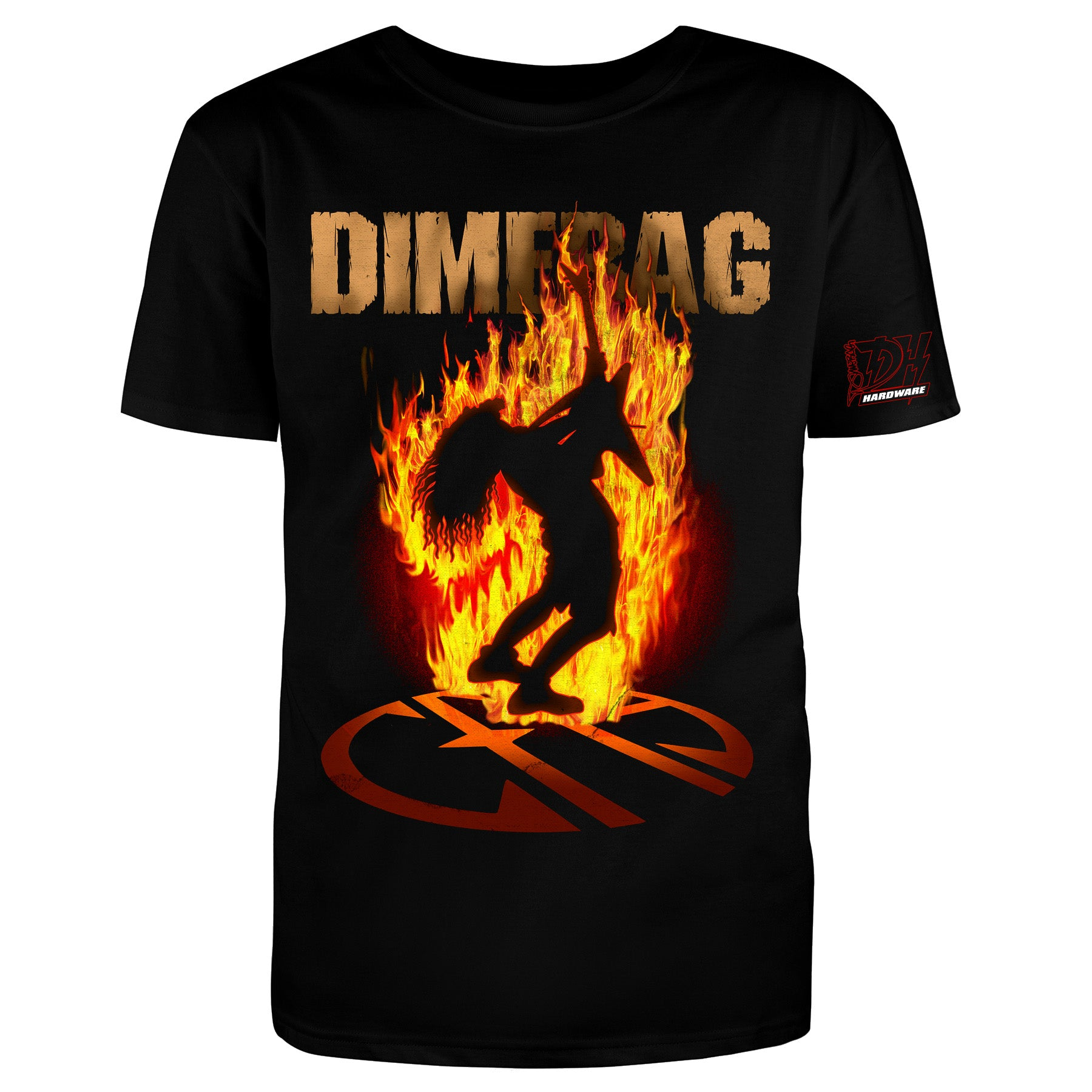 Dimebag Darrell - CFH Flames T shirt - Brand New Design