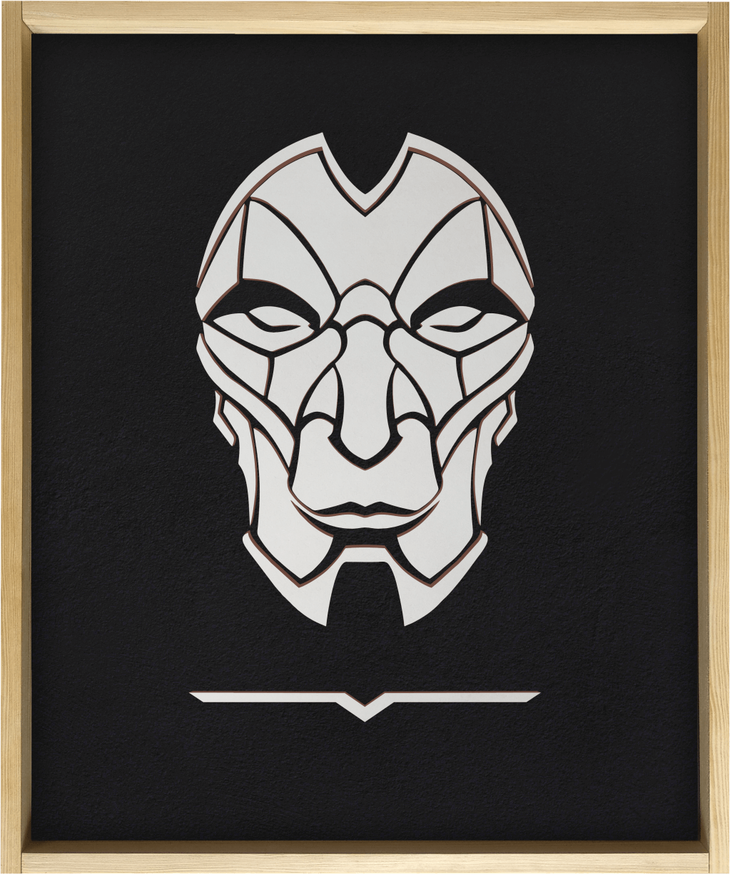Jhin - Wooden poster