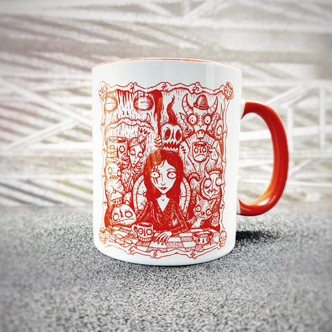 "Mug ""REJOICE IN THE MADNESS"" Special Edition RED"