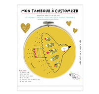 Tambour à customiser oiseau folk - by Zabeil