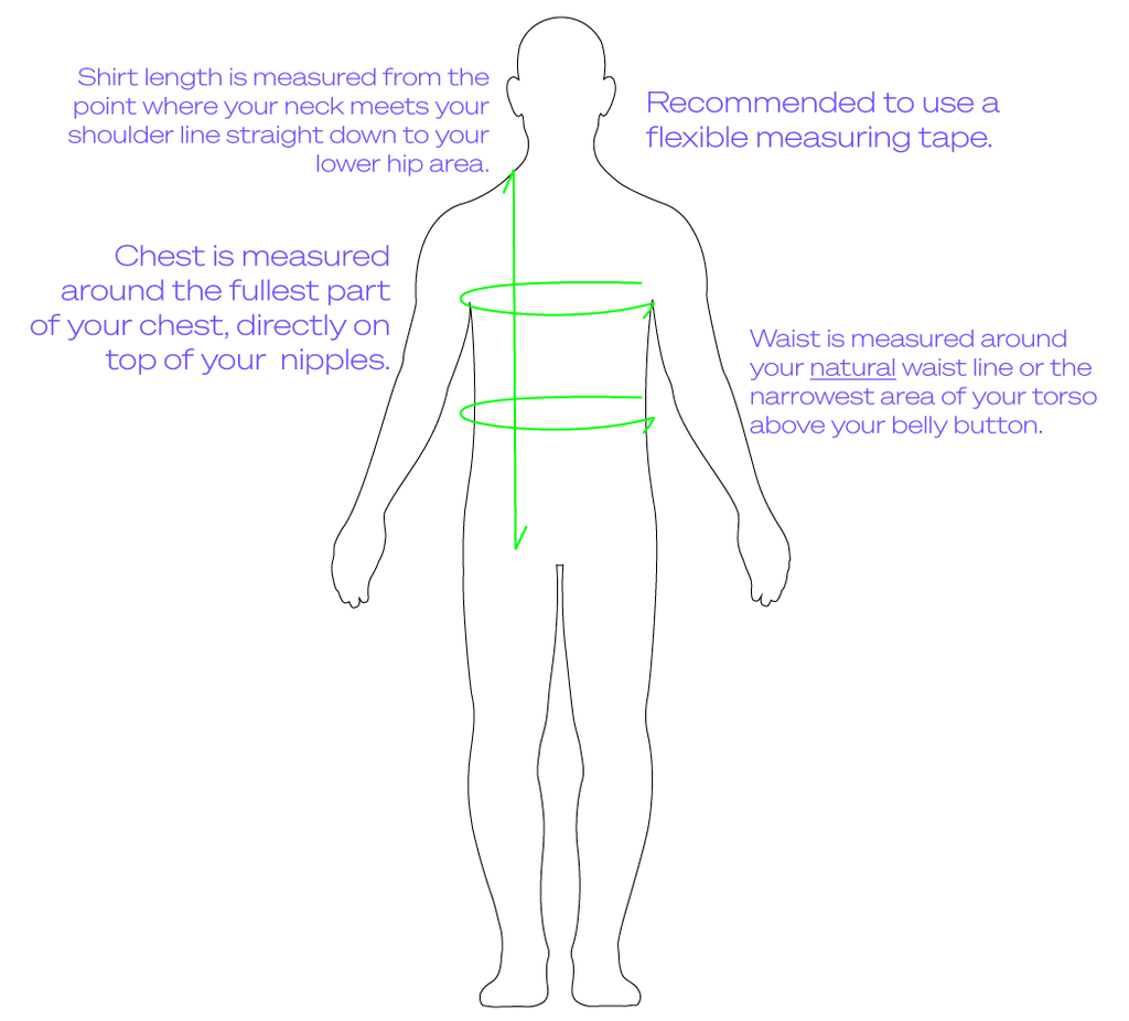 Drawing Of How To Measure A Man's Body For Accurate Sizing