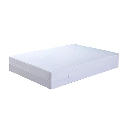 Mea Cama Zipped Mattress Encasement - 6 Sides Waterproof, Dust Mite, Bed Bug Proof - Fits Upto 15 inches (Queen)